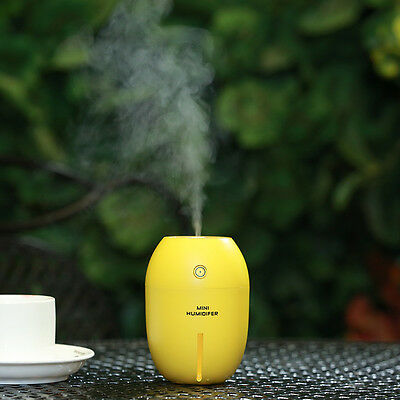 Ultrasonic Mini Lemon Home Aroma LED Humidifier Air Diffuser Purifier Atomizer