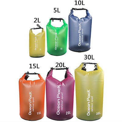 2-30L Waterproof Storage Dry Bag for Hiking Swimming Sport Canoeing Outdoor Camp