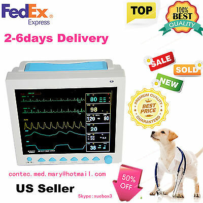 For VET ICU/CCU Veterinary PATIENT MONITOR ECG EKG SPO2 PR NIBP 6-PARAMETERS,US