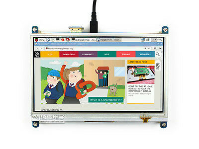 7inch HDMI LCD 1024×600 Resistive Touch Screen I/O Interface Touch Panel for RPI
