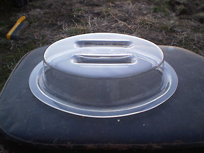 """(Qty. 6) Carlisle - Clear 11 x 8"""" Oval Plate Covers  #GROUPP1PCDR07"""