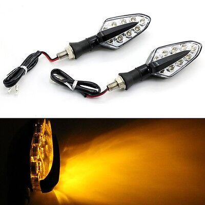 2x New LED Universal Motorcycle Motorbike Turn Signal Indicator Light Lamp Amber