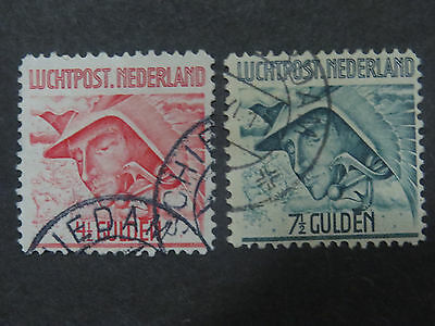 Netherlands 1929 Airmail - 2 Top Values - Good Used Condition - High CV