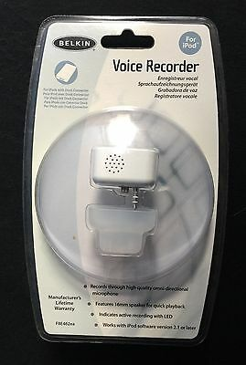 Belkin Voice Recorder for iPod - Mac or Windows  -  F8E462ea