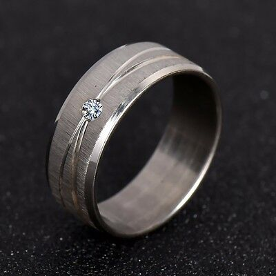 NEW Silver Stainless Steel Wire Ring Band Men Women Crystal Jewelry Rings Gift