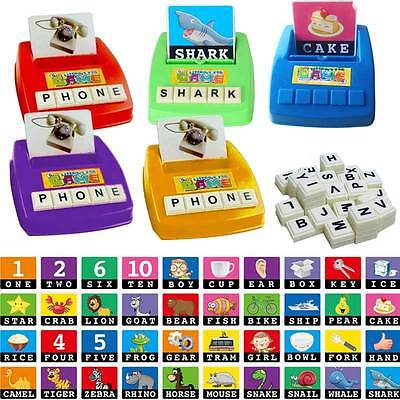 Children Learning English Word Puzzle Spelling Game Picture Flash Card for Baby