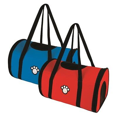 Strong Pet Carry Bag Dog Cat Rabbit Travel Carrier (Choose Red Or Blue)