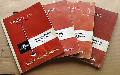 SET OF 8 x VAUXHALL SERIES FB SERVICE TRAINING MANUALS - 1960'S CLASSIC CAR