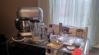 Andrew James Silver Multifunctional 5.2 Food Mixer With Meat Grinder & Blender