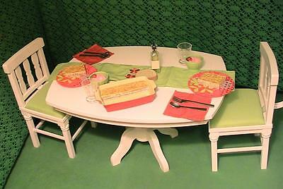 American Girl Doll Retired Dining Room Set & Delicious Dinner Set 2011 Nice!