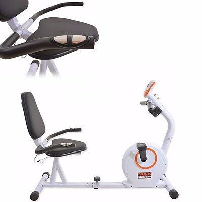 Recumbent 4kg Magnetic Wheel Resistance Exercise Bike Cardio Fitness Workout Gym