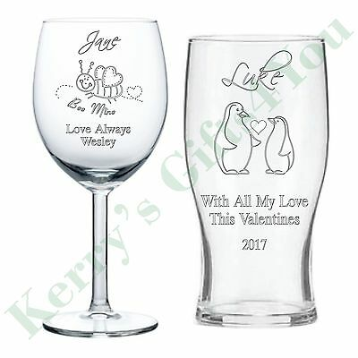 Personalised Engraved Glass Wedding Gifts Love Heart For Her Him Romantic
