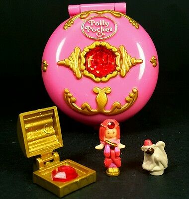Polly Pocket 1992 JEWELED PALACE ♡COMPLETE♡ Vintage Bluebird Pink Circle  Monkey