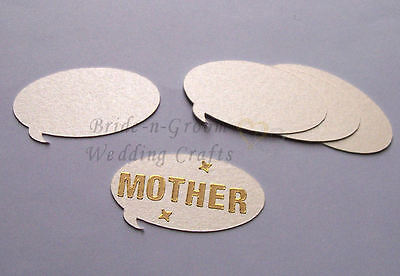 Ivory Pearlescent Speech Shaped Embellishment x 12. Great for peel off stickers