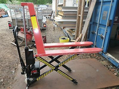 Norfolk Norwich Warrior 1000Kg Electric High Lift Pallet Truck Forklift Manual