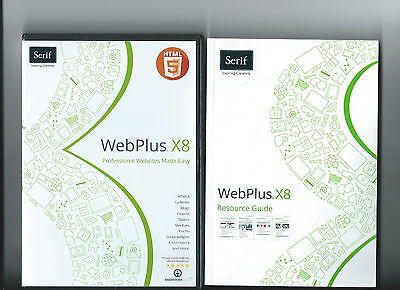 NEW Serif Webplus x8 DVD with 184 Page Resource Guide