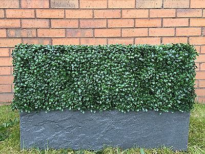Hedgedin premium bespoke made to measure instant artificial box hedging planter