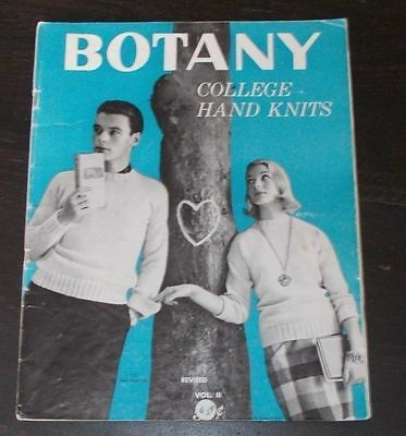 BOTANY College Hand Knits BOOK knitting patterns PULLOVERS Sweaters CARDIGANS