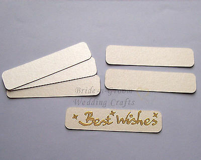 Ivory Pearlescent Banners Embellishments x 12. Great for peel off stickers