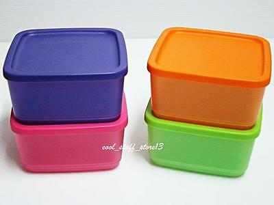 New Tupperware Modular Square Round Containers 650ml Set of 4 Behälter