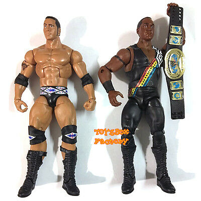 2x Nation of Domination WWF WWE Faarooq & The Rock Wrestling Action Figures Toys