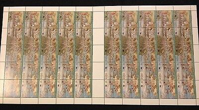 Not Folded Full Sheet 50 MNH 1987 First Fleet Arrival Australia Day 37c Stamps