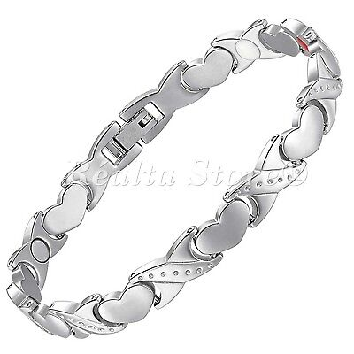 Womens Magnetic Bracelets-Negative IONS+ for Arthritis Therapy & Wellbeing-HKS4