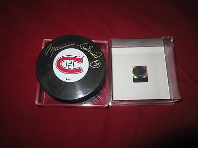 Maurice Richard Autographed Signed Montreal Canadiens Puck Habs
