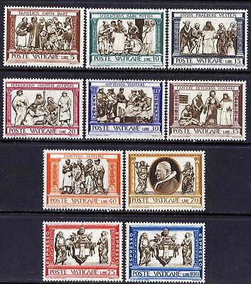 VATICAN Sc#284-91,E15-6 1960 Acts of Mercy MNH