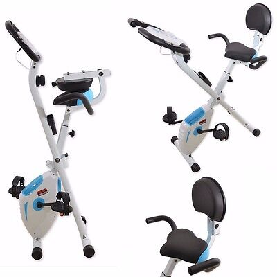 MaxStrength Foldable Exercise Bike with pulse sensor Grips Home Cardio training
