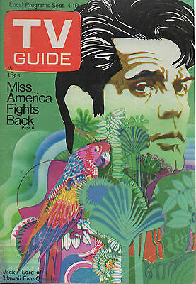 1971 TV GUIDE Jack Lord of 'Hawaii Five-O' Sept. 4-10 NO LABEL!