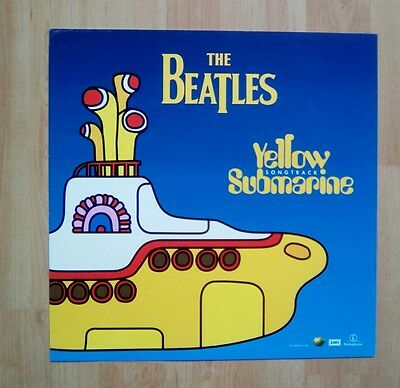 """The BEATLES -Promotional 12"""" x 12"""" Card (Flat) Yellow submarine"""
