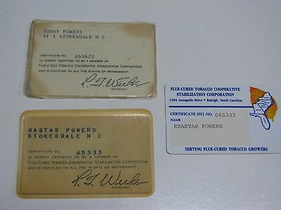 Vintage Flue Cured Tobacco Cooperative Stabilization - Member Cards