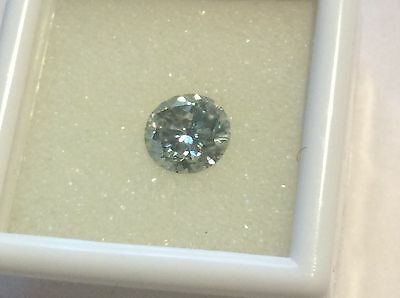 0.92 ct Genuine WHITE BLUE 6.36 mm  moissanite SI1 round brilliant cut =DIAMOND