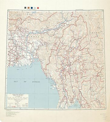 India and Burma Special Strategic Map