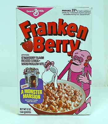 1981 Franken Berry Monster Mansion cereal box Boo Count Chocula FINAL $ DROP