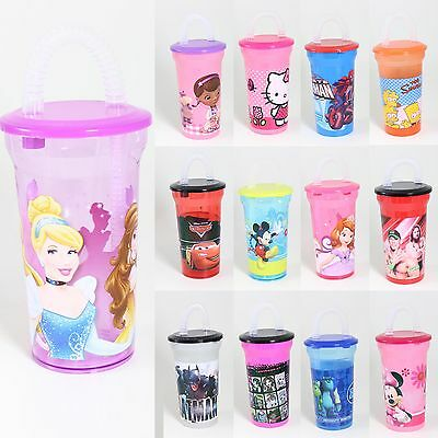 Disney / Marvel / Personnage Buvable Cup & Straw - 13 Designs