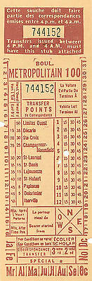 MONTREAL 1960's  BUS TRANSFERS  BOUL METROPOLITAIN  L.LALLIER  GENERAL MANAGER