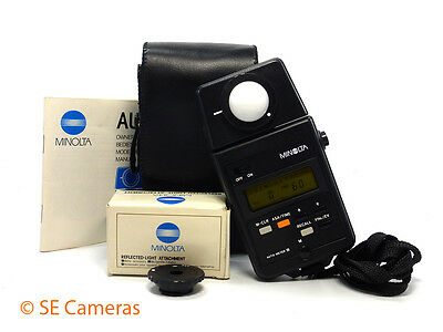 Minolta Auto Meter Iii Digital Light Exposure Meter & Reflected Light Attachment
