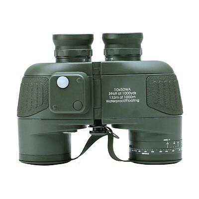 USCAMEL 10x50 HD Military Binoculars with Rangefinder Compass Telescope NEW