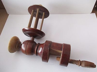 Vintage Treen Thread Winder With Screw Table Clamp