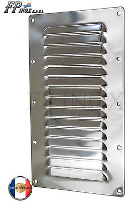 Grille inox 128mm x 232mm inox 316 Grille aération