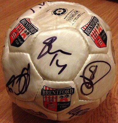 BRENTFORD 15 Squad SIGNED BALL 2013-2014; Size 5 ALL CONDITIONS FC FOOTBALL Club