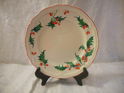Christmas Salad Plate, Villeroy & Boch China, Germany, Holly Pattern, Berries