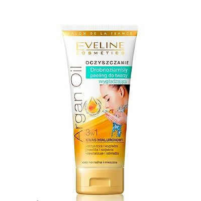 Eveline Smoothing Fine Face Scrub for Normal and Mixed Skin 3in1 Argan Oil 60ml