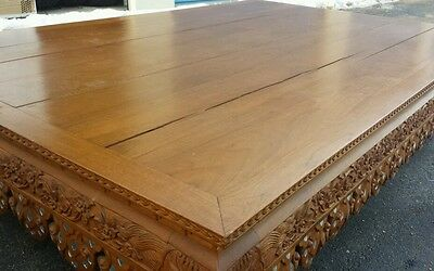 Ornate Japanese Chinese Tibet Asian Low Coffee Sitting Table Antique Solid Wood