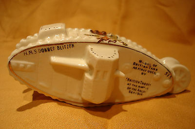 Ww1  Crested China  Tank H.m.s Donner Blitzen City Of London Crest