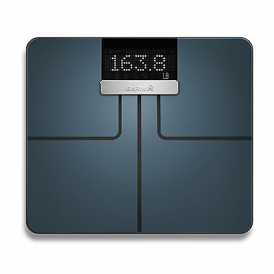 Garmin Index Wi-Fi Enabled Smart Scale Black with BMI and Muscle Mass Tracking
