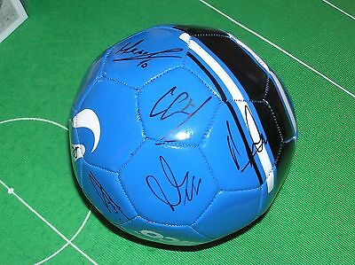 Blue Football Signed by 14 Brighton & Hove Albion FC 2015/16 Season Players