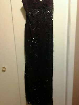 Evening gown  JE' Matadi by Sean Mehta GORGEOUS 100% SILK and BEADS